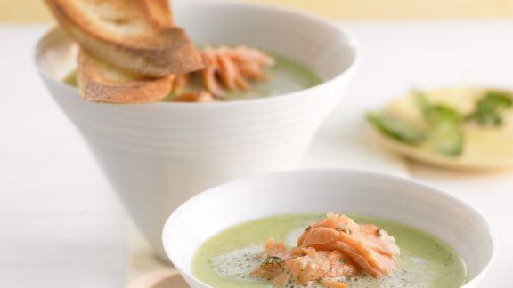 Rezept: Suppe aus Kresse mit Lachs