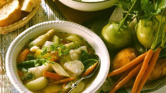 Rezept: Suppe mit Fisch und Gemüse
