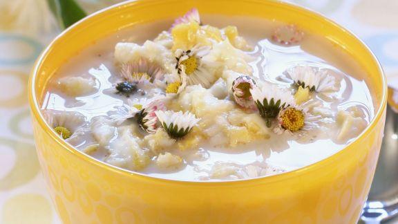 Rezept: Suppe mit Gänseblümchen