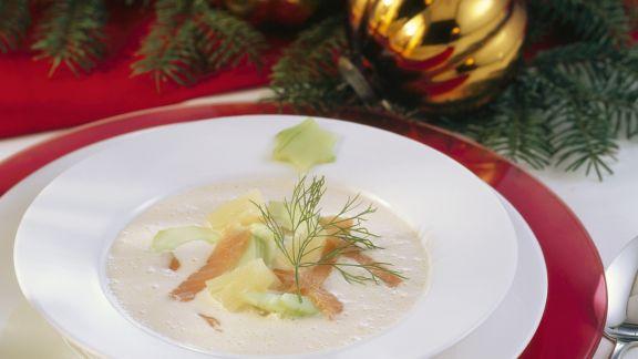 Rezept: Suppe mit geräuchertem Fisch und Meerrettich
