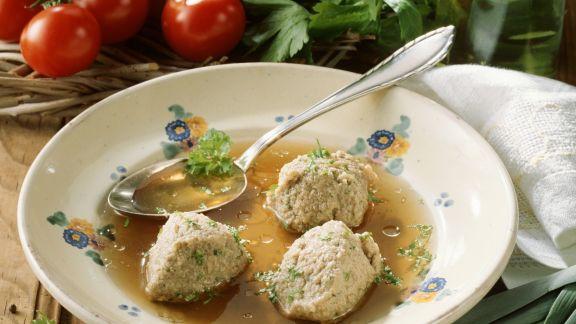 Rezept: Suppe mit Leberknödeln