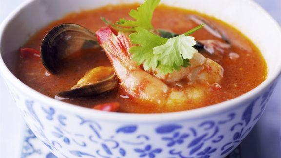 Rezept: Suppe mit Meeresfrüchten