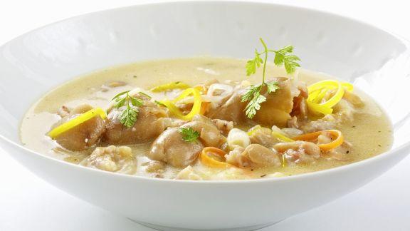 Rezept: Suppe mit Schweinshaxe und Wurzelgemüse (Klachelsuppe)