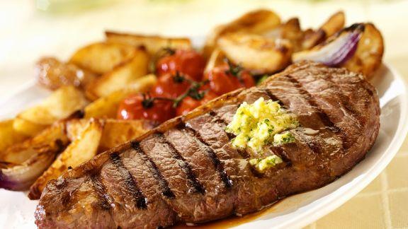 Rezept: T-Bone-Steak mit Kartoffeln