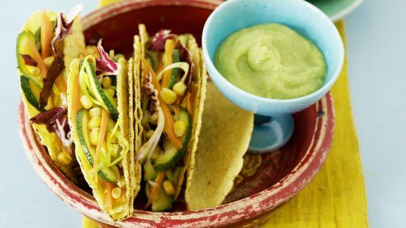 Rezept: Tacos mit Gemüse und Guacamole