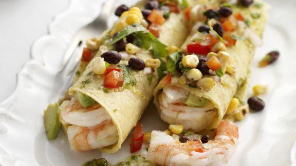 Rezept: Tacos mit Shrimps, grüner Salsa und Pico de Gallo