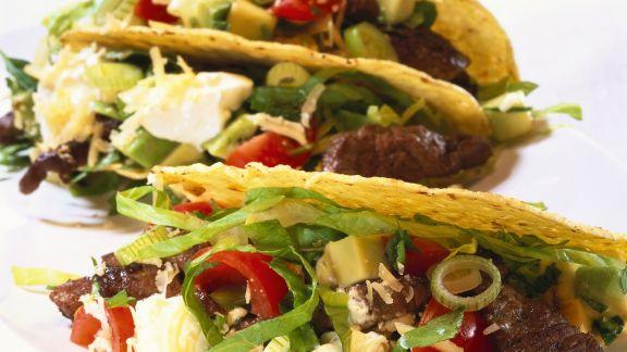 Rezept: Tacos mit Steak-Salat-Füllung