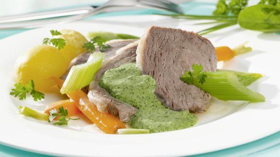 Rezept: Tafelspitz mit Gemüse und Kräutersoße
