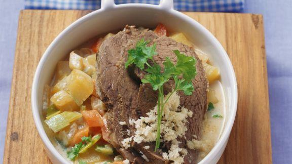 Rezept: Tafelspitz mit Kartoffeln und Kren