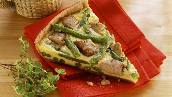 Rezept: Tarte mit grünen Bohnen und Schweinefilet