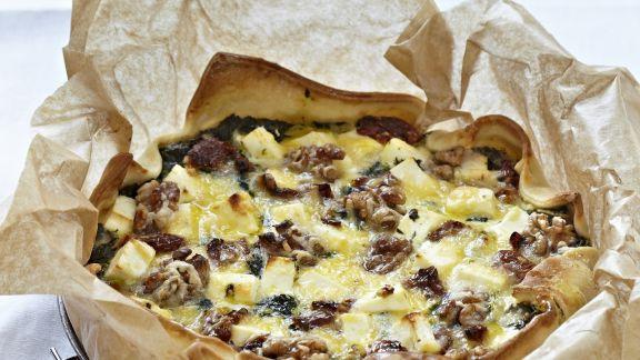 Rezept: Tarte mit Spinat und Feta