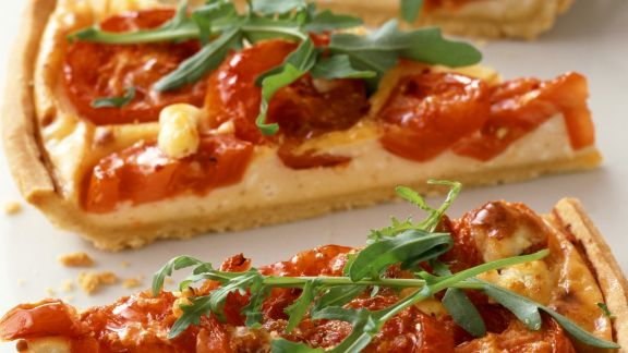 Rezept: Tarte mit Tomate und Rucola