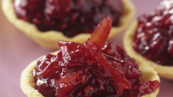 Rezept: Tarteletts mit Himbeer-Orangen-Konfitüre