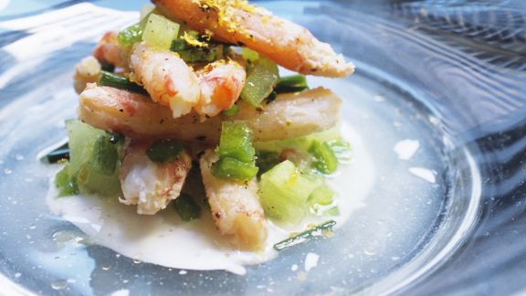 Rezept: Tasmanische Krabben mit Melone und Joghurtsoße