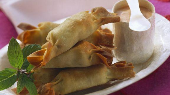 Rezept: Teigröllchen mit Kartoffel-Minz-Füllung