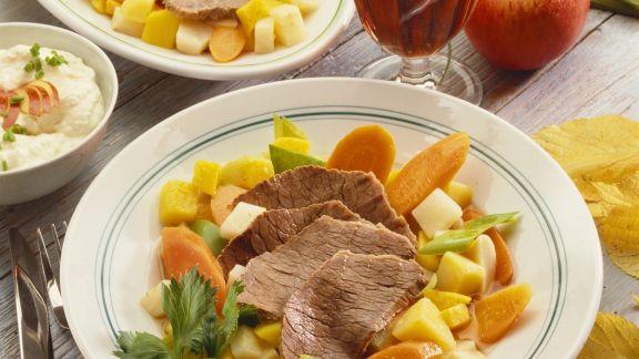 Rezept: Tellerfleisch mit Suppengemüse