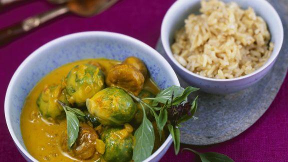 Rezept: Thai-Curry mit Rosenkohl und Kastanien