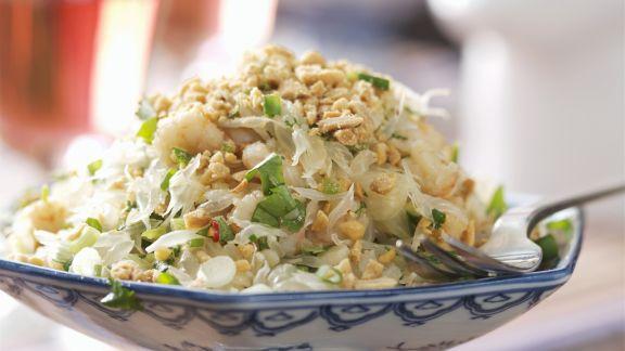 Rezept: Thailändischer Salat mit Krabben, Erdnüssen und Limetten