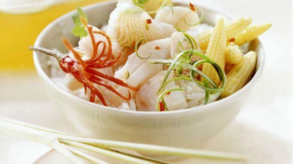 Rezept: Thailändisches Fischfondue mit Reis