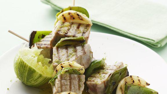 Rezept: Thunfisch-Limetten-Spieße vom Grill