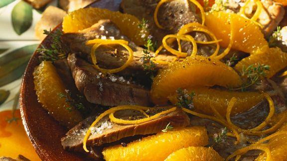 Rezept: Thunfisch mit Orangensauce