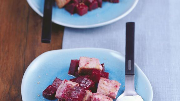 Rezept: Thunfisch mit Roter Bete