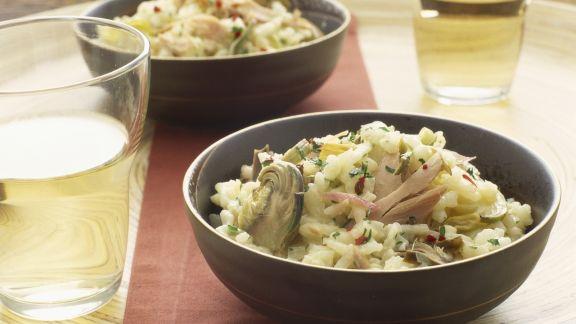 Rezept: Thunfisch-Risotto mit Trauben