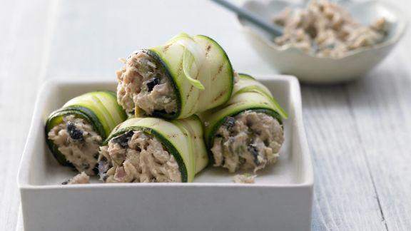 Rezept: Thunfisch-Zucchini-Röllchen