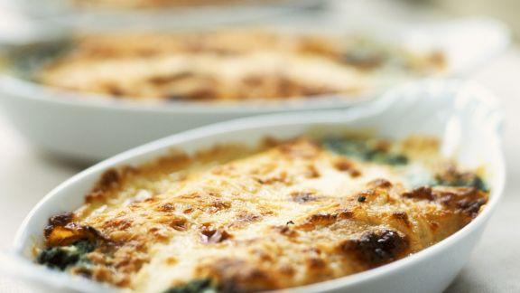 Rezept: Thunfischgratin mit Spinat