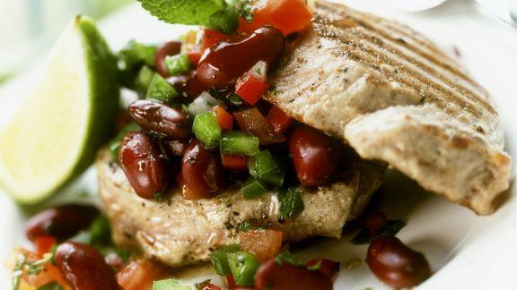 Rezept: Thunfischsteak mit Kidneybohnen-Salat