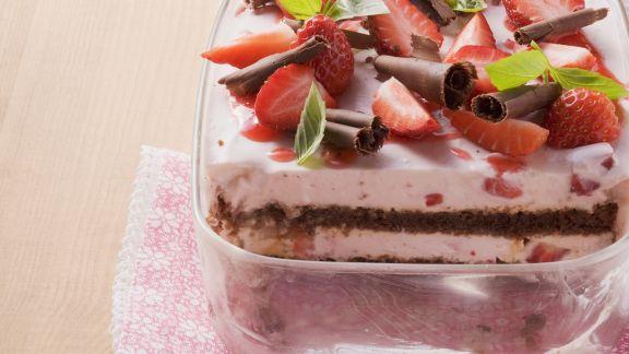 Rezept: Tiramisu mit Erdbeeren