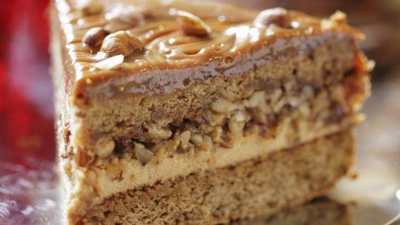 Rezept: Toffee-Haselnuss-Torte