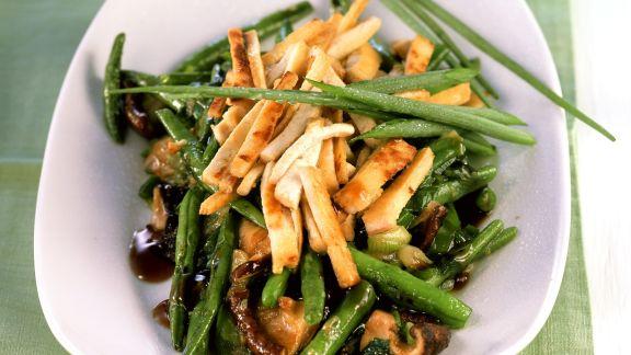 Rezept: Tofu-Bohnen-Pfanne mit Shiitake