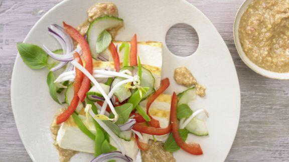 Rezept: Tofu-Gurken-Salat