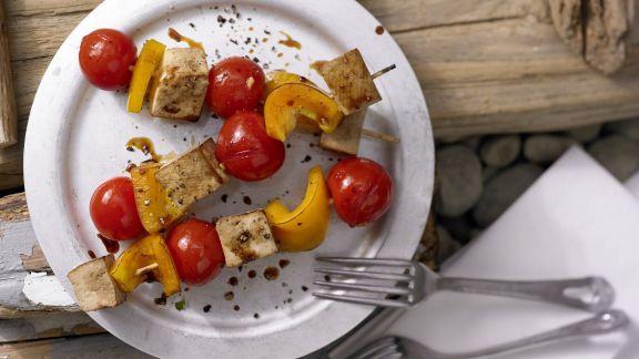 Rezept: Tofu-Paprika-Spieße