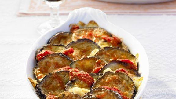 Rezept: Tomaten-Auberginen-Gratin
