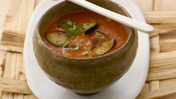 Rezept: Tomaten-Auberginen-Suppe