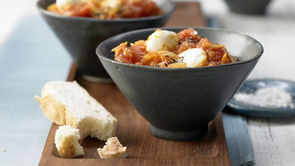 Rezept: Tomaten-Curry mit Mozzarella