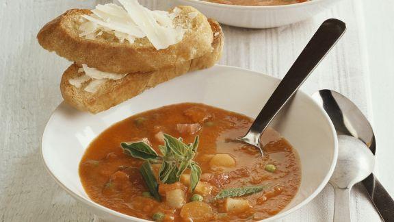 Rezept: Tomaten-Erbsen-Eintopf