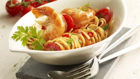 Rezept: Tomaten-Garnelen-Pasta