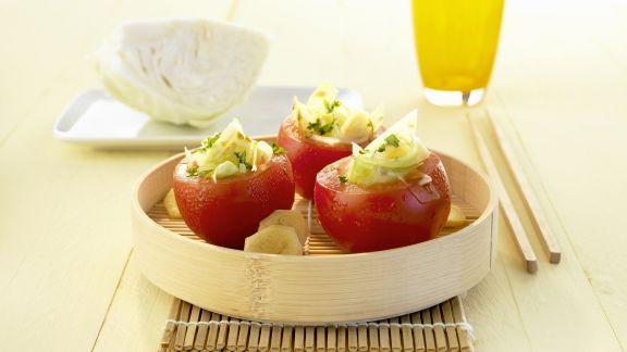 Rezept: Tomaten gefüllt mit Ingwer und Kohl