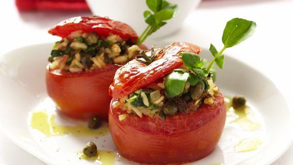 Rezept: Tomaten mit Reisfüllung