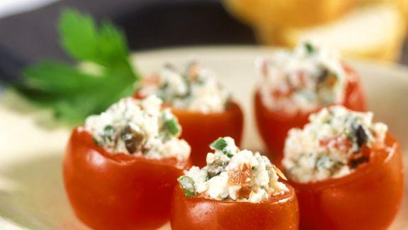 Rezept: Tomaten mit Ricottafüllung