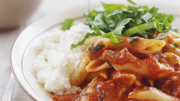 Rezept: Tomaten-Pasta mit Ricotta