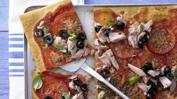 Rezept: Tomaten-Thunfisch-Pizza