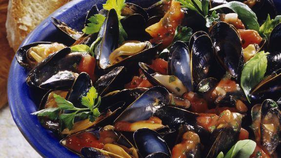 Rezept: Tomatensauce mit Miesmuscheln
