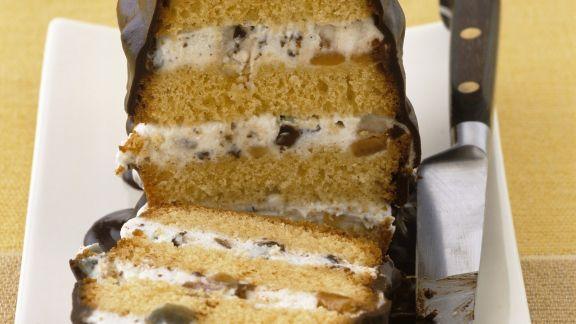 Rezept: Torta di cacio mit Schokolade glasiert (Cassata)