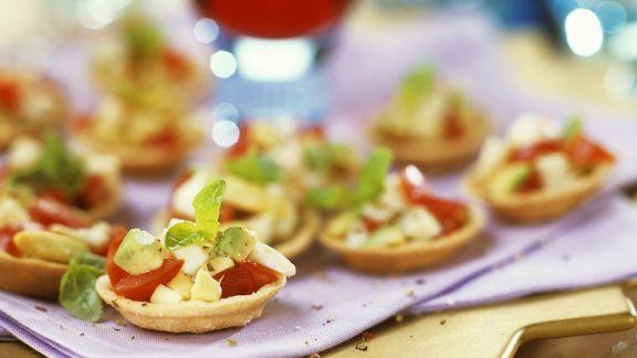 Rezept: Tortelett-Gemüse-Häppchen