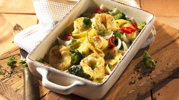 Rezept: Tortellini-Gratin mit Brokkoli