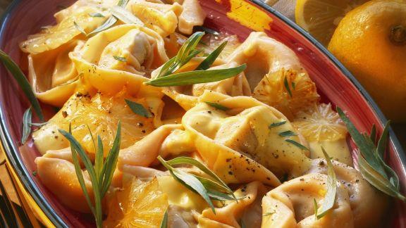 Rezept: Tortellini in Zitronensoße mit Estragon